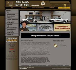 Teton County Sheriff's Office, Montana Website Screenshot