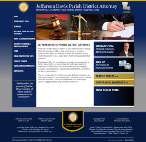 Jefferson Davis Parish District Attorney, Louisiana Website Screenshot