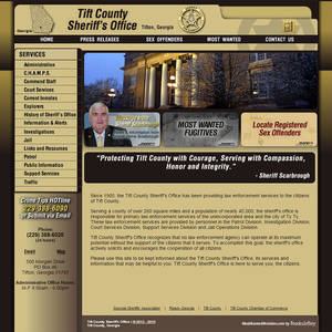 Tift County Sheriff's Office, Georgia Website Screenshot