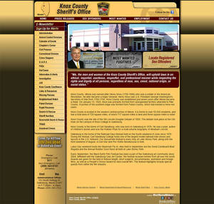 Knox County Sheriff's Office, Illinois Website Screenshot