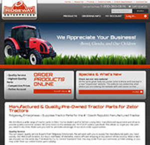 Ridgeway Tractor Supply Website Screenshot
