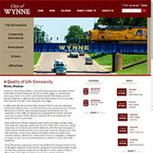 City of Wynne, Arkansas Website Screenshot