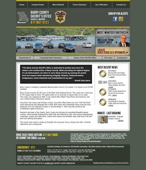 Barry County Sheriff's Office, Missouri Website Screenshot