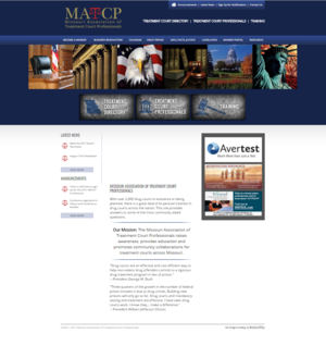 Missouri Association of Treatment Court Professionals Website Screenshot