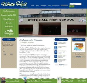 City of White Hall, Arkansas Website Screenshot